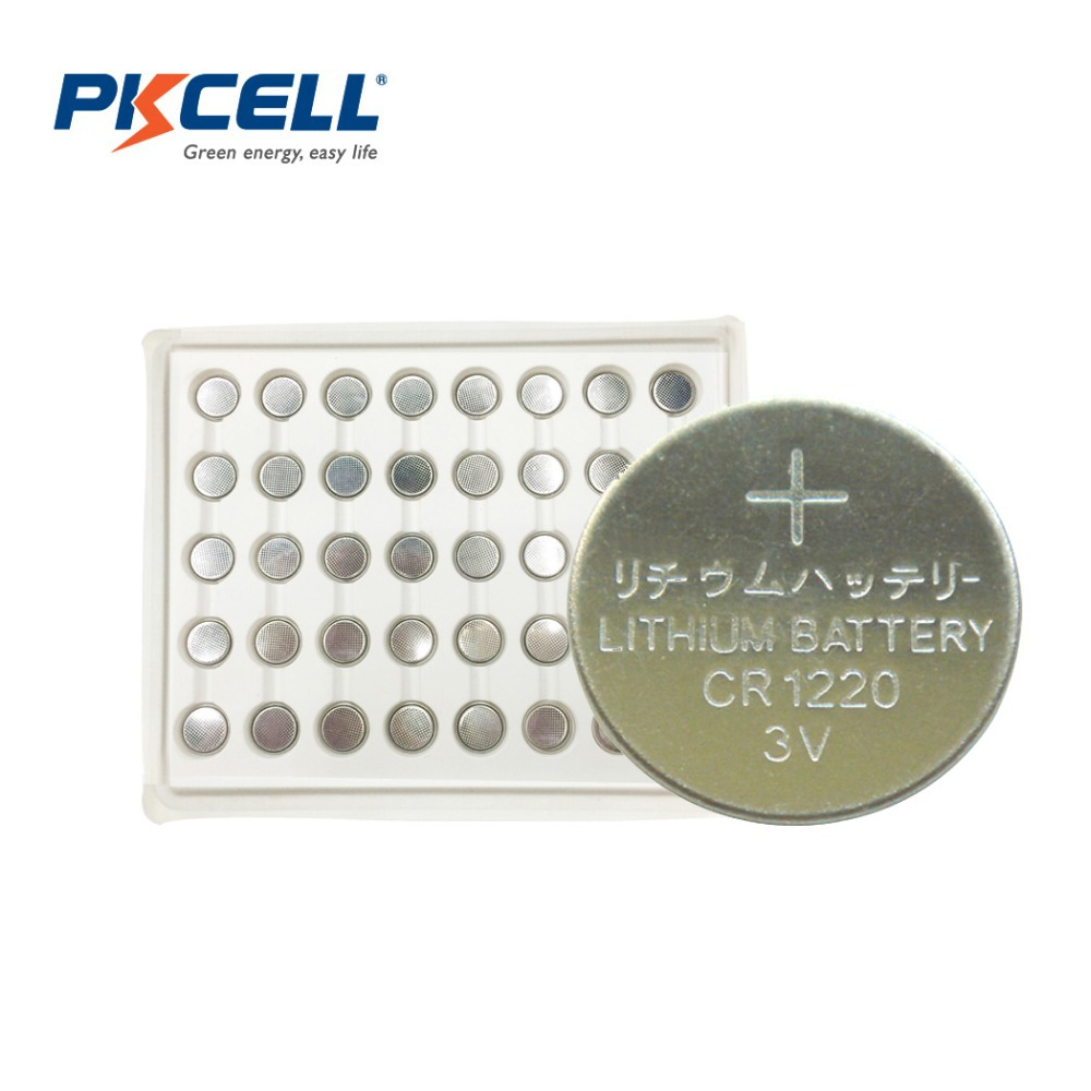 Wholesale 50pc/Lot CR1220 1220 DL1220 LM1220 ECR1220 3V Lithium Button Coin Cell Batteries Free Shipping<br><br>Aliexpress