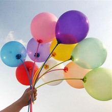 New 100pcs/lot 10 inch1.2g Latex balloon Helium Round balloons Multicolor Thick Pearl balloons Wedding Party Birthday Balloons