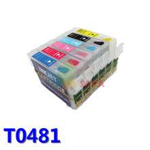 T0481 Refillable Ink Cartridge Compatible For Epson Stylus Photo R200 R220 R300 R300M R320 R340 RX500 RX600 RX620 RX640 Printer(China (Mainland))