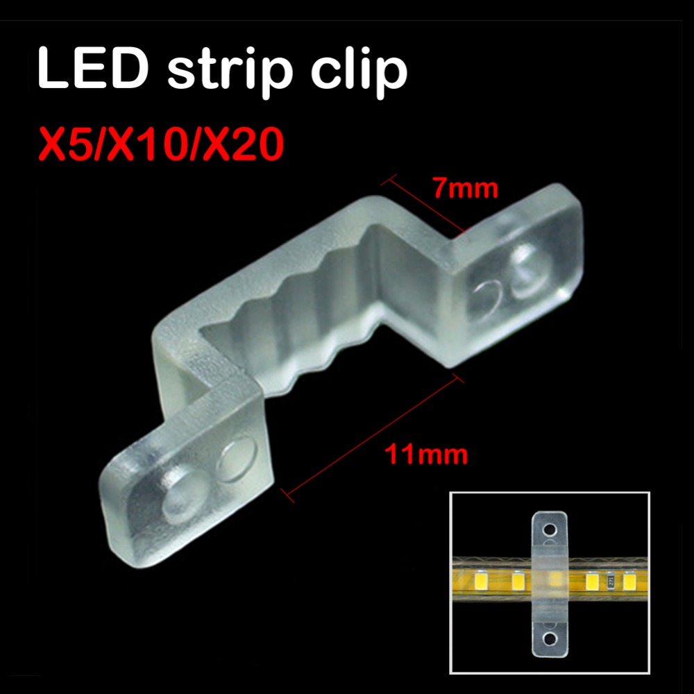 20/10/5PCS LED Strip Connector Silicon clip For 11x7mm Width SMD3528 SMD5050 Light Strip Flexible Light Strips fixing holder(China (Mainland))