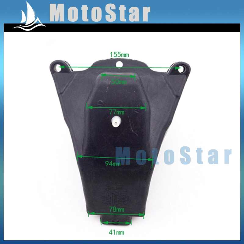 Motorcycle Petrol Gas Fuel Tank For Chinese 47cc 49cc 2 Stroke Apollo KXD Mini Dirt Bike Kids Black Plastic(China (Mainland))