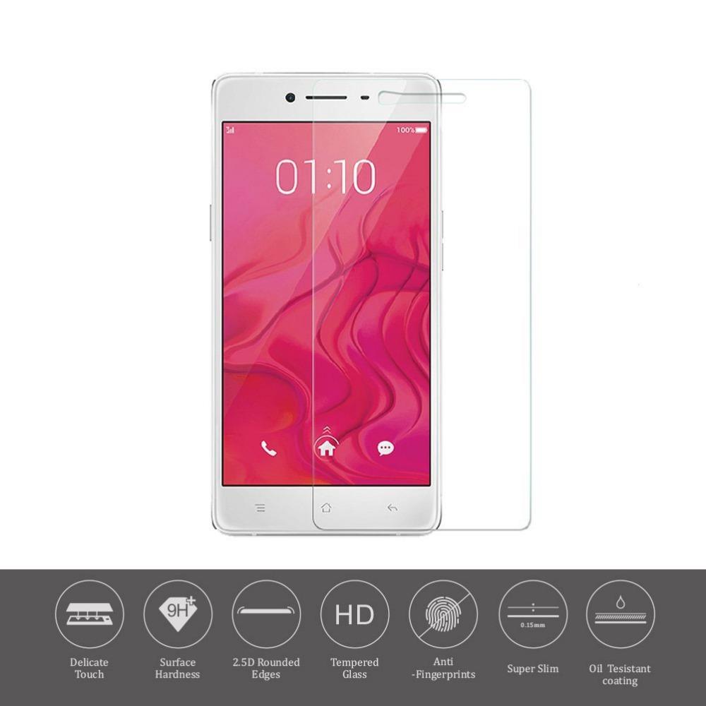 Здесь можно купить  100pcs/lot.Tempered Glass Tough Screen Protector Film for Oppo R7, free shipping by DHL  Телефоны и Телекоммуникации