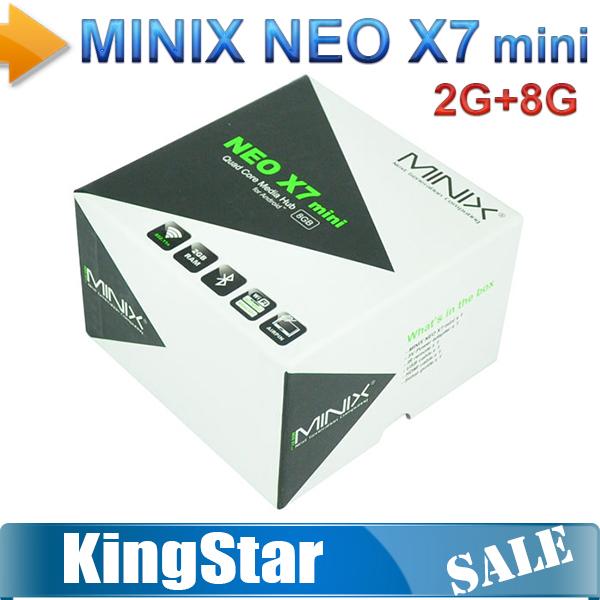 Free shipping Original MINIX NEO X7 mini Quad Core Coretex A9 Android 4.2 TV BOX Google smart tv box 2GB/8GB WIFI RJ45(China (Mainland))