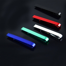 Buy Stainless Steel Glossy Tie Clips Necktie Pin Clasp Bar Toned Enamel Wedding Metal Tie Clips Men's Clothing Accessories Gift 4cm for $1.69 in AliExpress store