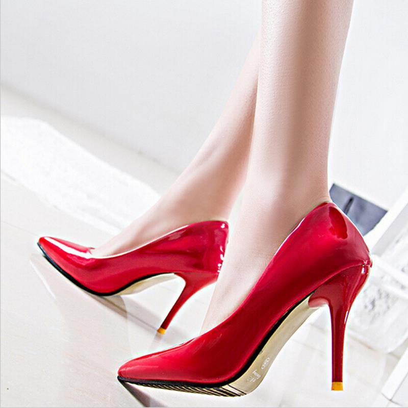 Cool New 2016 Fashion Crocodile Lade Up High Heels Women Oxford Shoes Vintage Patent Leather Women ...