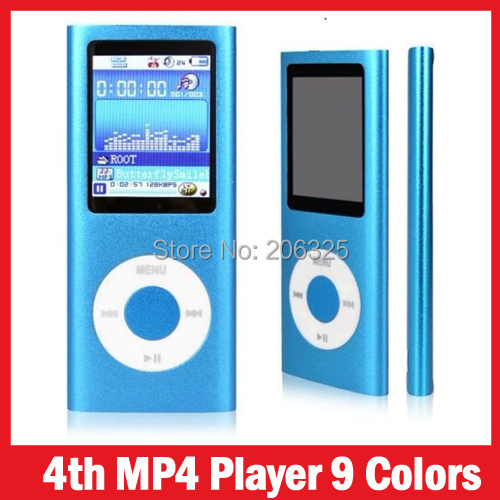 "2015 Speaker MP3 MP4 Player Slim 4TH 1.8""LCD Video Radio FM Player For 4GB 8GB 16GB 32GB Micro SD TF Card Mp4 6th Genera(China (Mainland))"