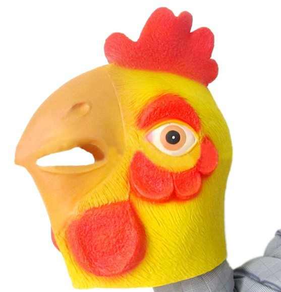 Funny Chicken Head Latex Mask Animal Costume Halloween Fancy Dress Novelty Mask(China (Mainland))