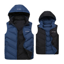 Hot Sale Stars Loves Brand New Arrival Slim Man Vest 2016 Autumn Winters Hooded Cotton Padded Men's Vests Thickening Waistcoat