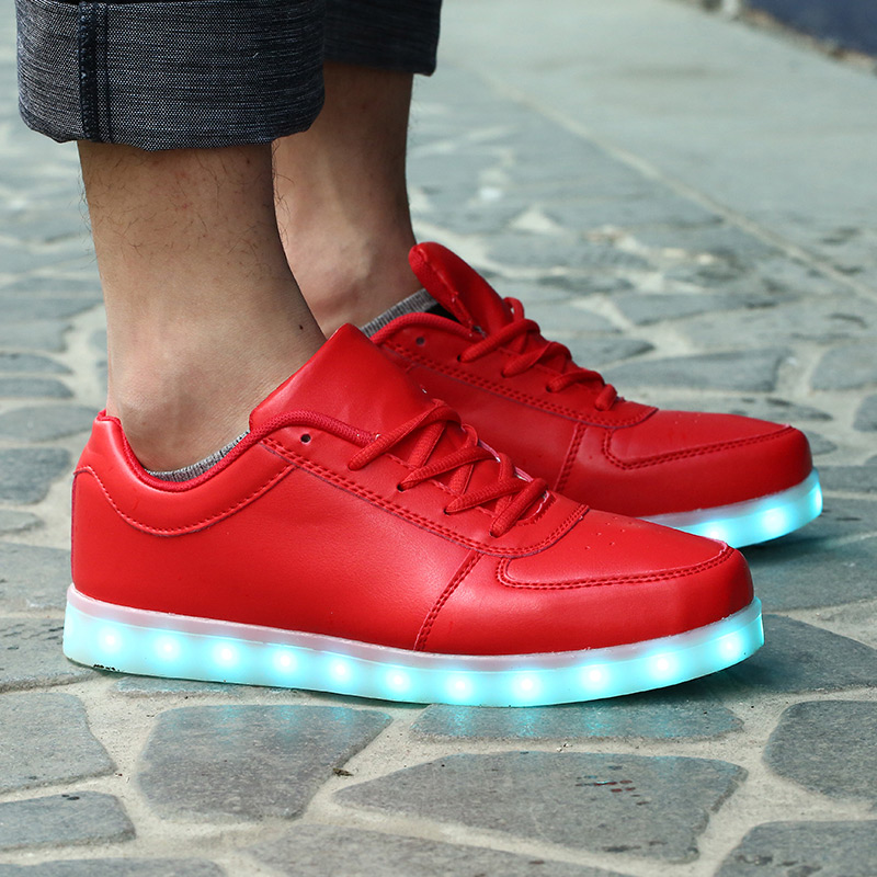 Led shoes for adults led casual men shoes led luminous shoes 2015 plus size light up