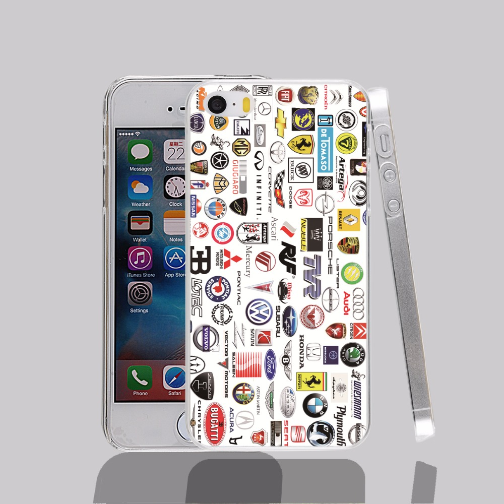 14066 car brands names transparent Cover cell phone Case for iPhone 4 4S 5 5S 5C 6 6S Plus 6SPlus(China (Mainland))