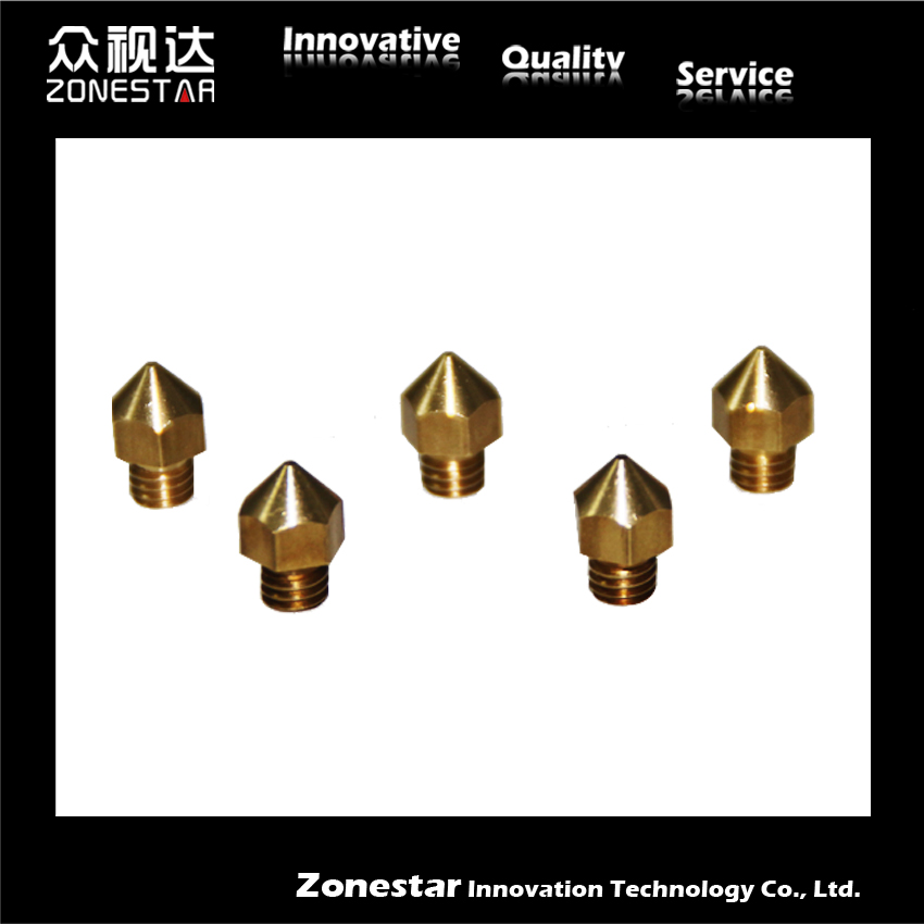5PCS lot 3D printer Extruder Nozzle For 1 75mm Filament Mix Sizes 0 3mm 0 4mm