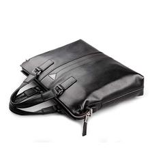 100 GENUINE LEATHER cowhide Shoulder leisure men s bag business messenger portable briefcase Laptop large Purse