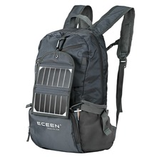 ECEEN Foldable Lightweight Backpack Solar Powered Hiking Daypacks Bags with 3.25 Watts Solar Charger&Power Bank Smart Cell Phone(China (Mainland))