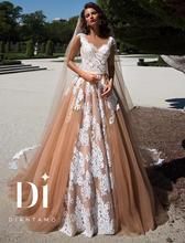 Gelinlik Arabic Ball Gown Lace Wedding Dresses 2017 robe de mariage Backless vestido de noiva de renda Vintage Bridal Gowns(China (Mainland))