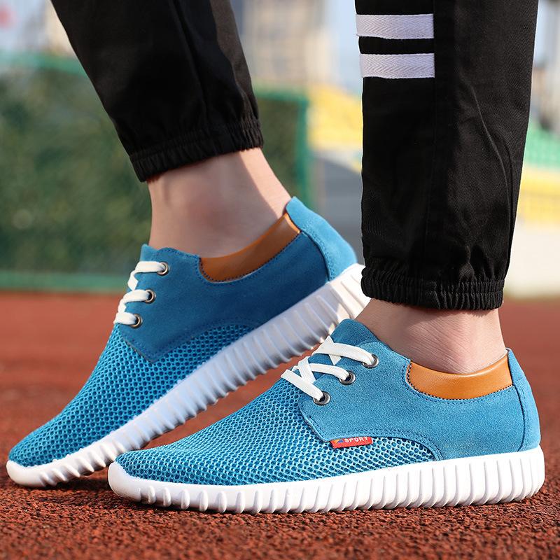 Fashion man casual shoes 2016 mesh Breathable Hollow flat men shoes(China (Mainland))