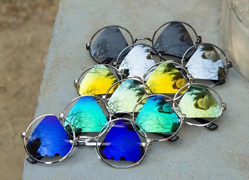 Dokly 2015 Fashion Triangle lens Vintage Round Sunglasses Women Brand Designer Sun Glasses Women Oculos De Sol Feminino Gafas