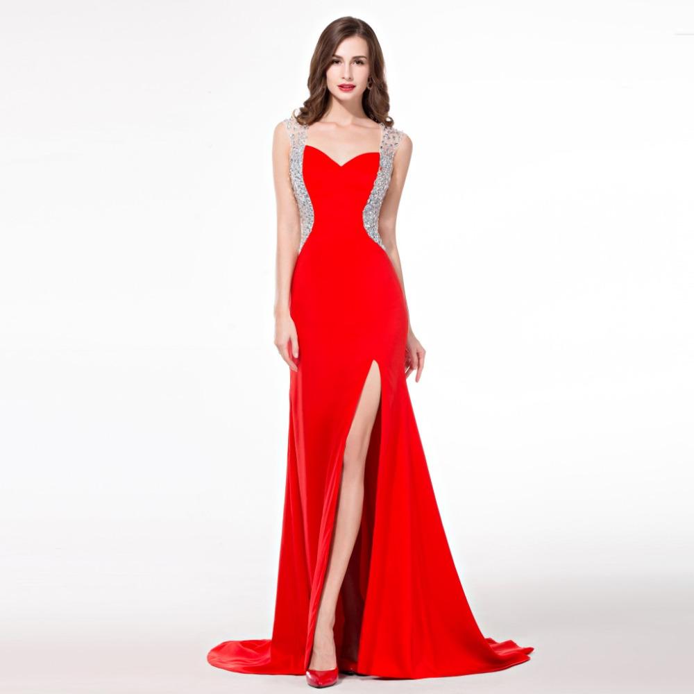 Aliexpress.com : Buy Avondjurk Long Red Dresses Evening ...