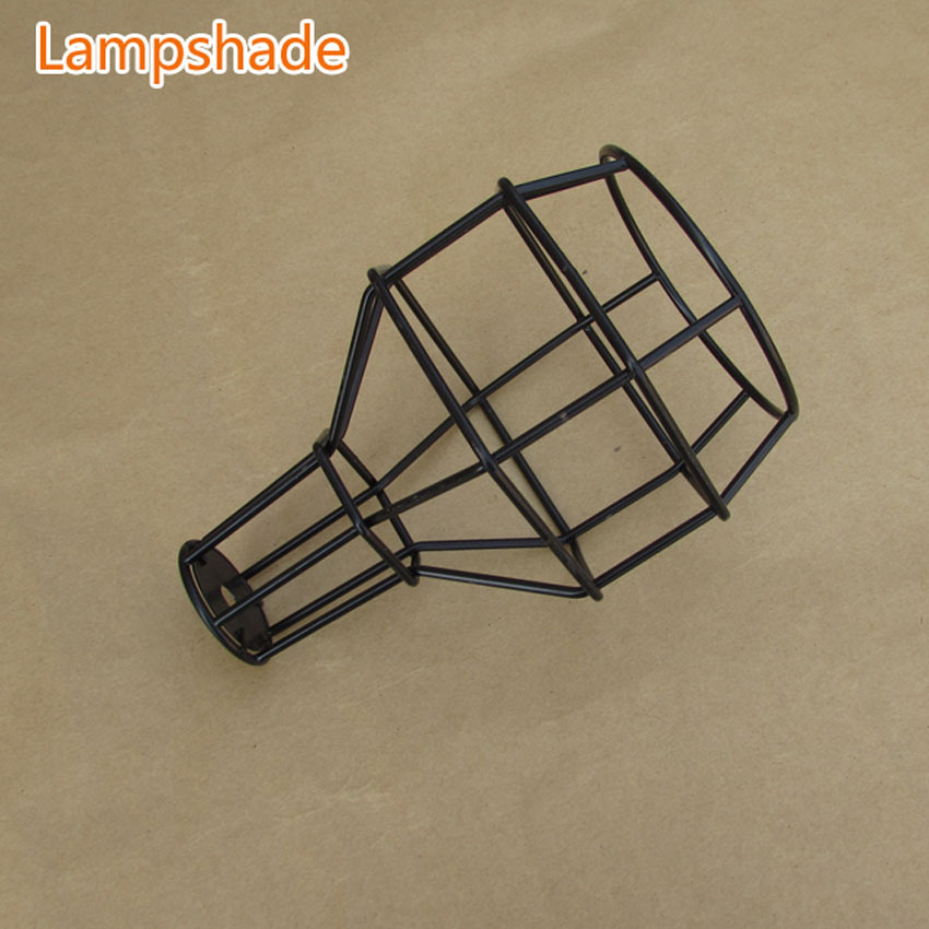 Classic Black Nordic Industrial Lamp  E27 lampshade,  bulb cage for vintage light   pendant light/wall light DIY lampshade