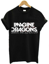 Buy 2015 New Women Tshirt IMAGINE DRAGONS Letters Print Cotton Casual Funny Shirt Lady Black White Top Tee Hipster ZT203-27 for $3.92 in AliExpress store