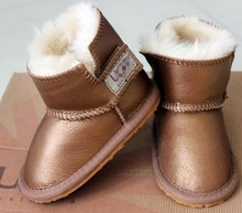 2015 Australia brand Snow boots boy/girl real cowhide boots, waterp roof warm children's boots Fashionable boots for Kids(China (Mainland))