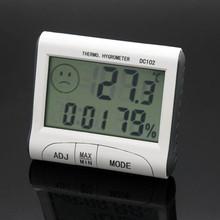 Красивый подарок 100% новое 2016 жк-термометр влажности температуры гигрометр измеритель часы тестер бесплатная доставка Dec10