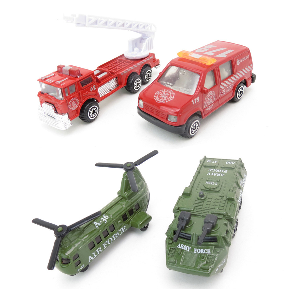 NEW Fire Engine Mini Car Aircraft And Tank Model Toy Vehicles Of Firefighters For Boys High Quality Kids Toys For Children(China (Mainland))