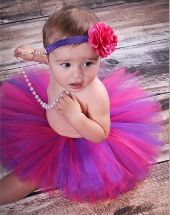 Multicolour Newborn Photo Props Baby Tutu Skirt Flower Headband Outfits suitable for Photography Christmas Birthday Party 0 - 9M<br><br>Aliexpress
