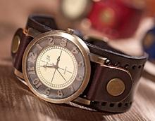 Genuine Leather Bracelet Watch MEN High Quality wristwatch women Retro Vintage Fashion Geneva Style Dropshipping