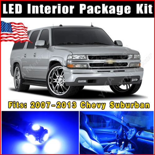 "14pcs  T10 W5W Festoon 42mm 1.72"" SMD LED Lights Interior Package Kit 2007-2013 for Chevy Suburban Ultra Blue Car led Lamp -A(China (Mainland))"