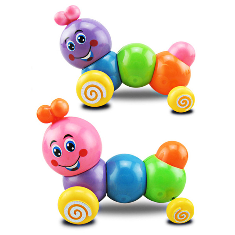 Color Random!!! Kids Toys Colorful Caterpillar Wind-up Toys Baby Child Developmental Educational Toy