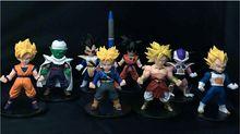 8Pcs/Set Dragon Ball Z SC Vegeta Freeza Goku Piccolo Trunks Anime Cartoon PVC Figures Collection Model Toys Doll Statues juguete