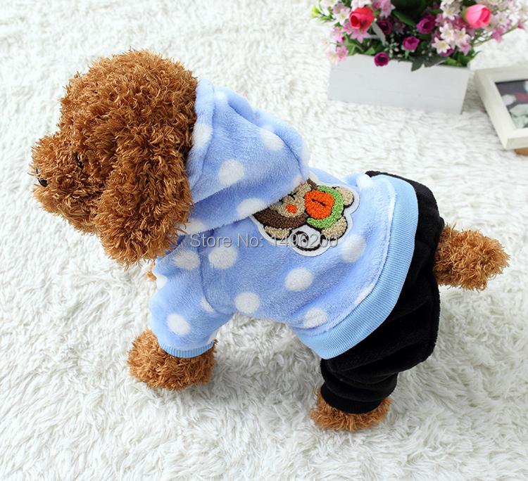 Hot Doglike Brand Warm Dog Pajamas Clothes Warm Sleeping Pomeranian Dog Coat Jumpsuit Pet Dog Hoodie Clothing Puppy(China (Mainland))