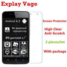 2pcs/Lot High Quality HD Front Clear LCD Screen Protector for Explay Vega Protective Screen Film Guard with Retail Package