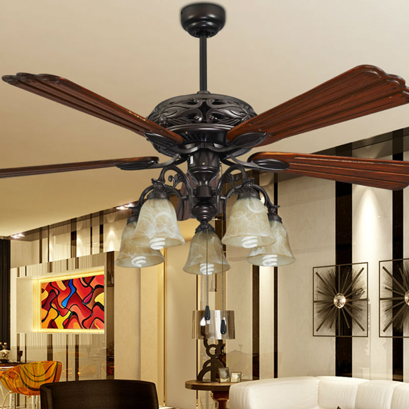 fashion ceiling fan lights retro style fan lamps bedroom dinning room living room fan. Black Bedroom Furniture Sets. Home Design Ideas
