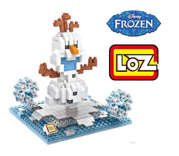 Princess Elsa Anna Olaf Snowman Figure LOZ Educational Minifigures Block Diamond Building Blocks ABS plastic Bricks Toy With Box(China (Mainland))