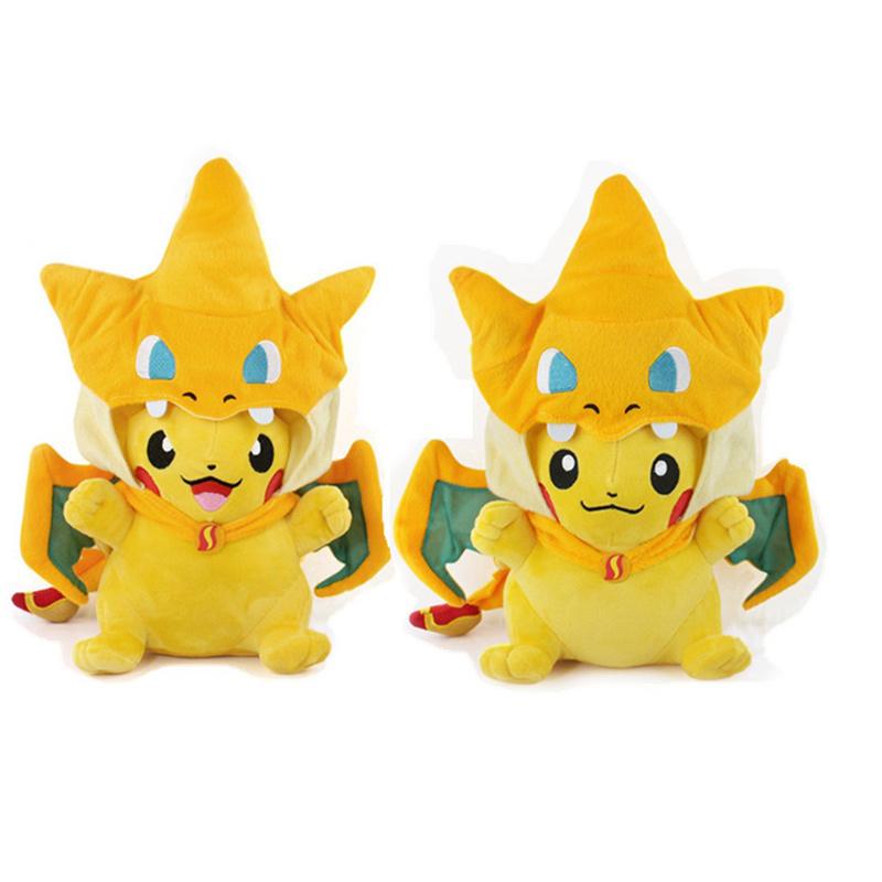 HOT SALE 25/35cm Pokemon Pikachu Charmander Plush Toys Cute Animals Soft Toys Fashion Pokemon Plush Doll(China (Mainland))