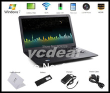 Free DHL shipping 13.3 inch 1G 160GB Laptop Intel Atom D2500 1.8GHZ ultra thin cheap price with multi language laptop