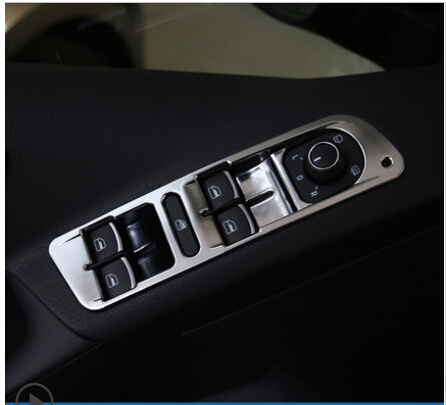 car sitkcers(4/p) Glass lift switch decorative stickers car accessories for Volkswagen TIGUAN<br>