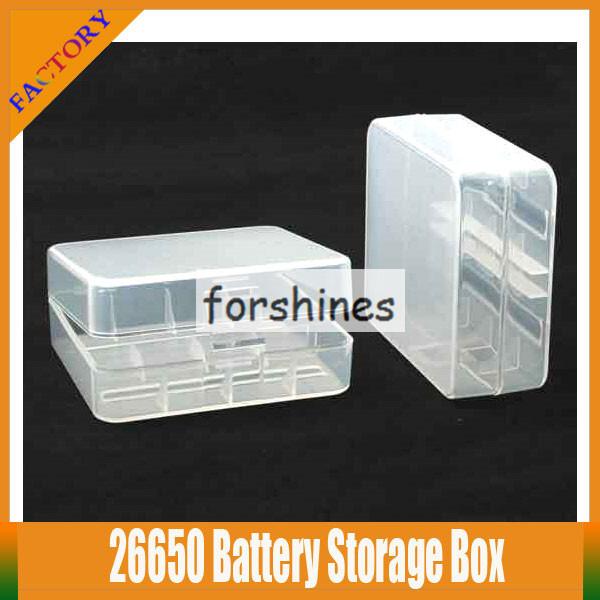 20pcs stock cheap vape E-cigs ecig Plastic Battery Case Box Holder Storage Container pack 26650 mechanical mod batteries(China (Mainland))