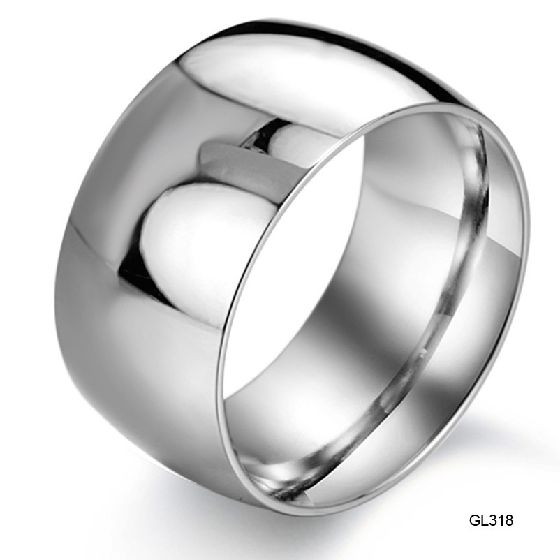 Mens Wide Band Wedding Ring