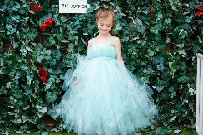Скидки на 2 Цвета Летние платья Детские платья для девочек Розовый Синий Марлевые Сетки рукавов Пачка платье принцессы/Детские принцесса костюмы