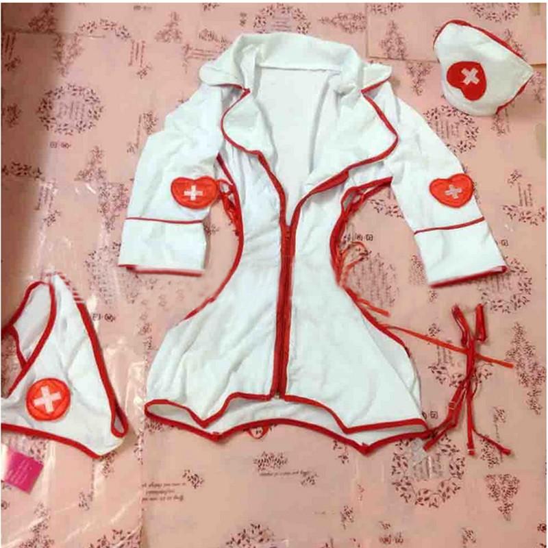Sexy Nurse Costume Erotic Costumes Role Play Women Erotic Lingerie Sexy Underwear Red Cross Uniform Games