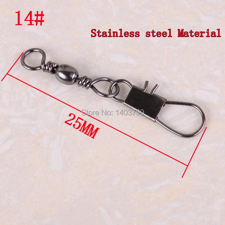 5 snap fishing lure tackles black Stainless steel swivel small accessories Connector copper interlock - Fish the home Trade rs store