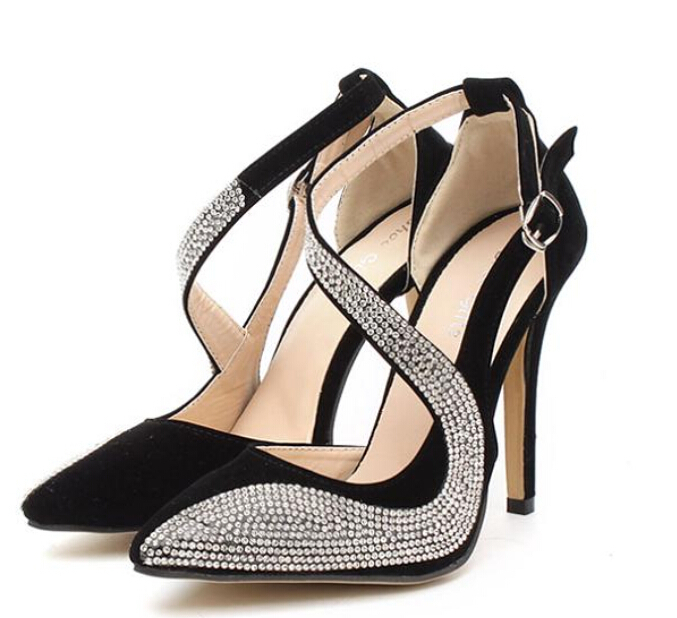 Summer 2015 fashion women's high-heeled shoes diamond-studded high-heeled sandals, high-heeled sandals rhinestone mosaic