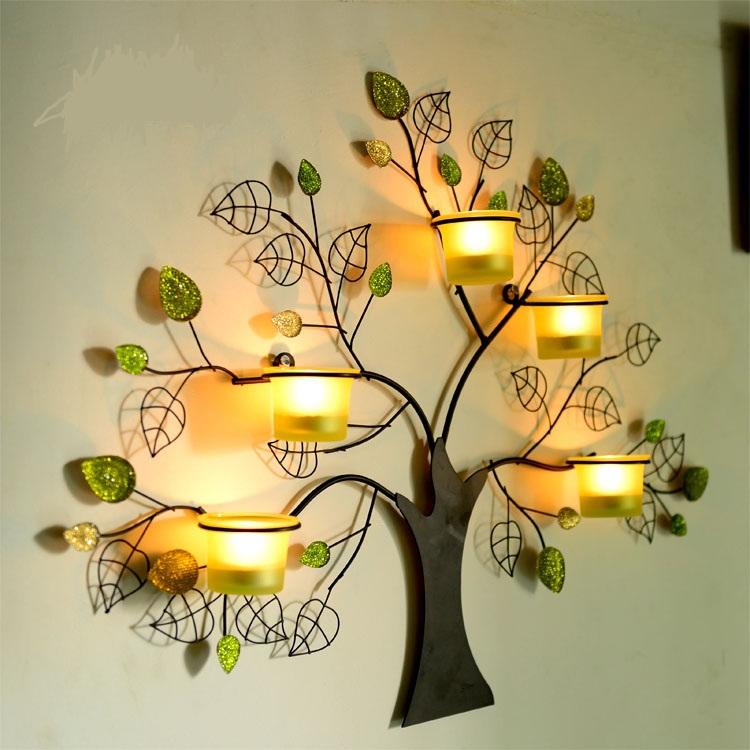 Portacandele in metallo albero acquista a poco prezzo portacandele ...