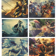 Buy League Legends Sex Game poster LOL Heroes posters Wall stickers home Coffee decor Vintage anime poster 51*35.5cm for $1.25 in AliExpress store