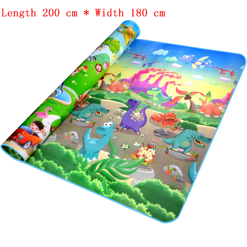 Baby Play Mat 200*180*0.5cm Crawling Mat Double Surface Baby Carpet ...