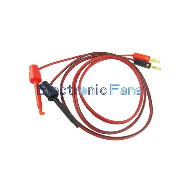 Гаджет  1 Pair Small Test Hook Clip to Banana Plug for Multimeter Test Lead Cable  None Электронные компоненты и материалы