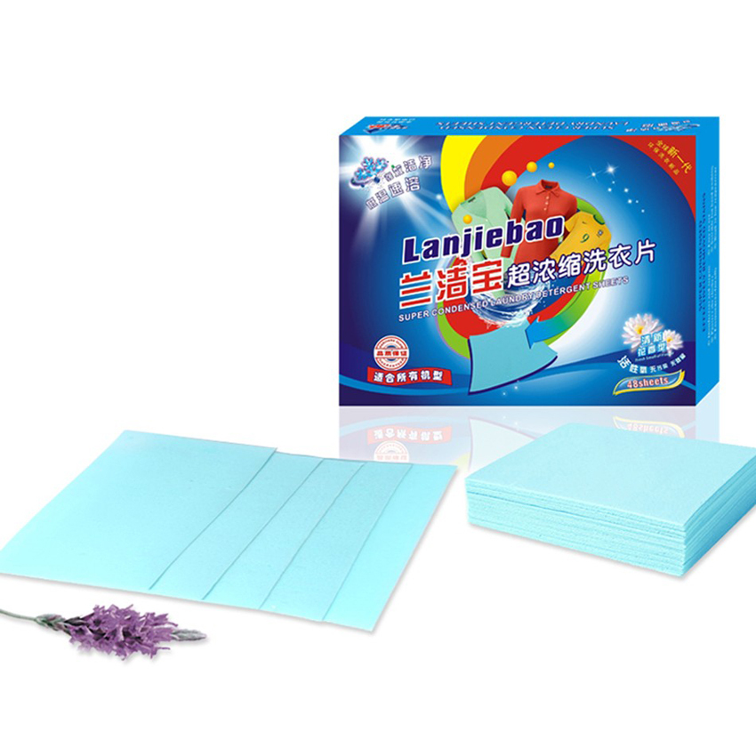 48pcs/box Super decontamination Non-toxic Laundry detergent wash clothes Laundry Discs Travel Business Trip Laundry Products(China (Mainland))