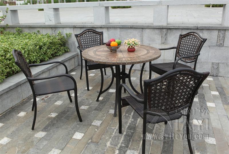 confronta i prezzi su metal patio table - shopping online ... - Metallo Patio Tavolo E Sedie Rotondo